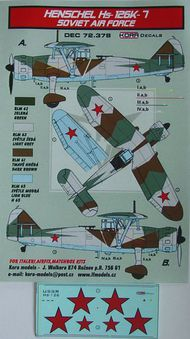 Henschel Hs.126K-7 Soviet Air Force (Hs.126A-1) #KORD72378