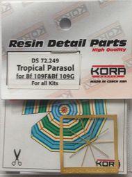 Tropical Parasol for all Messerschmitt Bf.109F/Bf.109G kits #KORDS72249