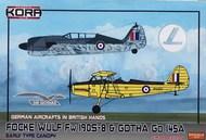 Messerschmitt Bf.109G-2 and Gotha Go 145A German Aircrafts in Soviet hands - Double kit. #KORPK72099