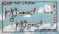 Fiat Cr.20 bis in Luftwaffe Service #KORPK72104
