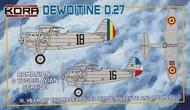 Dewoitine D.27 Romanian and Yugoslavian Service #KORPK72105