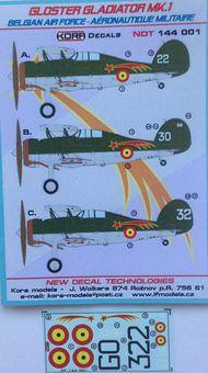 Kora Models  1/144 Gloster Gladiator Mk.I Belgian AF NDT144001