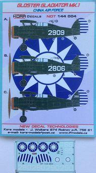 Kora Models  1/144 Gloster Gladiator Mk.I China AF NDT144004