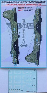 Kora Models  1/144 Boeing B-17G-10-VE Luftwaffe NDT144007