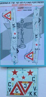 Kora Models  1/144 Boeing B-17G-40-VE Soviet Union NDT144008
