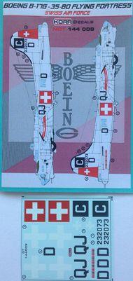 Kora Models  1/144 Boeing B-17G-35-BO Swiss AF NDT144009