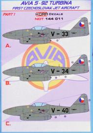 Kora Models  1/144 Avia S-92 Turbina Part 1 NDT144011