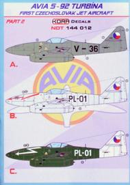 Kora Models  1/144 Avia S-92 Turbina Part 2 NDT144012