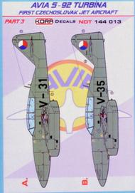 Kora Models  1/144 Avia S-92 Turbina Part 3 NDT144013