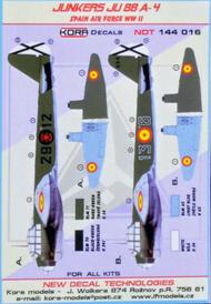 Kora Models  1/144 Junkers Ju-88 A-4 Spain Air Force WWII NDT144016
