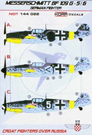 Messerschmitt Bf.109G-5/6 Croatian Fighters over Russia #NDT144022