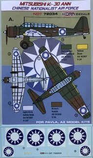 Mitsubishi Ki-30 Ann Chinese Nation.AF #NDT72034