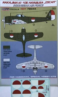 Nakajima Ki-43-II Oscar Indonesian AF #NDT72044