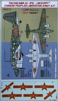 Ki-54c Hickory Chinese P.Lib.Army Pt.2 #NDT72051