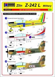 Zlin Z-242L Military, 4x decal set #KPEX7220