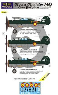 LF Models  1/144 Gloster Gladiator Mk.I over Belgium (3 decal options) (designed to be used with MARK I Models) LFMC4408