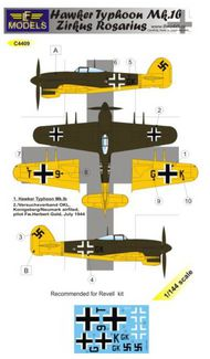LF Models  1/144 Hawker Typhoon Mk.Ib Zirkus Rosarius (1 decal option) (designed to be used with Revell kits) LFMC4409