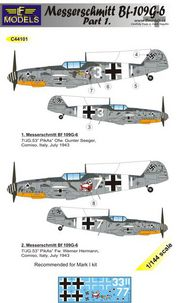 LF Models  1/144 Messerschmitt Bf.109G-6 Comiso Part 1 LFMC44101
