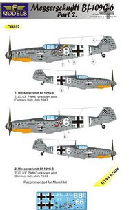 LF Models  1/144 Messerschmitt Bf.109G-6 Comiso Part 2 LFMC44102