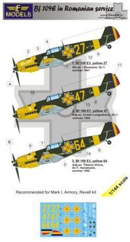 LF Models  1/144 Messerschmitt Bf-109E-3 in Romanian service Part 1 (designed to be used with Armory, Mark I Models and Revell kits) LFMC4414