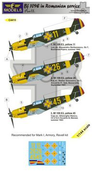 LF Models  1/144 Messerschmitt Bf-109E-3 in Romanian service Part 2 (designed to be used with Armory, Mark I Models and Revell kits) LFMC4415