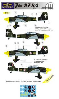 LF Models  1/144 Junkers Ju.87R-2 'Stuka' part 1 (designed to be used will Eduard, Revell and Zvezda kits) LFMC4419