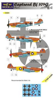 LF Models  1/144 Captured Messerschmitt Bf.109G-2 part 1 (designed to be used with Mark I Model kits) LFMC4423