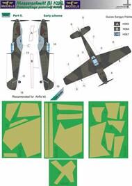 LF Models  1/24 Messerschmitt Bf.109E Early part II Camouflage Pattern Paint Mask LFMM2402