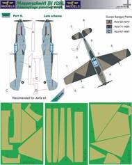 LF Models  1/24 Messerschmitt Bf.109E Late part II. Camouflage Pattern Paint Mask LFMM2404