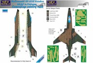 McDonnell RF-101C Voodoo USAF in Vietnam camouflage pattern paint mask #LFMM4876