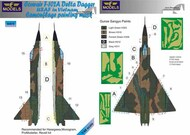 Convair F-102A Delta Dagger USAF in Vietnam camouflage pattern paint mask #LFMM4878