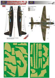 Vickers Wellington Mk.IC camouflage pattern paint mask 1 diagonally to the left #LFMM7231