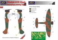 Mitsubishi A5M1 Claude camouflage pattern paint mask #LFMM7267