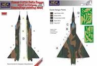 Convair F-102A Delta Dagger USAF in Vietnam camouflage pattern paint mask #LFMM7283