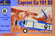 Caproni Ca-101 D2 includes resin parts, paint mask and decals for 4 versions #LFPE7220