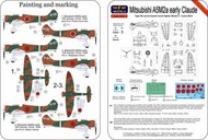 Mitsubishi A5M2a early Claude Camo Bird (ex AVI Models) #LFPE7227