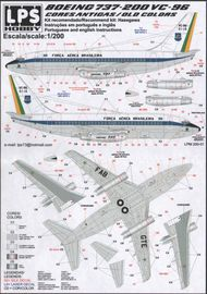 LPS  1/200 Brazilian Air Force Boeing 737-200 Old C LPM20001
