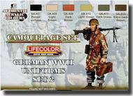 Life Color Paints  LifeColor 22ml Acrylic Camo Set: German WWII Uniforms Set 2 LFCCS05