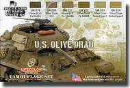 Life Color Paints  LifeColor 22ml Acrylic Camo Set: U.S. Olive Drab LFCCS11