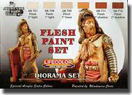 Life Color Paints  LifeColor 22ml Acrylic Diorama Set: Flesh Paint Set LFCCS13