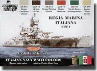 Life Color Paints  LifeColor 22ml Acrylic Camo Set: Italian Navy WWII LFCCS15