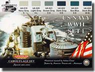 Life Color Paints  LifeColor 22ml Acrylic US Navy WWII Set 1 LFCCS24