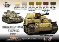 Life Color Paints  LifeColor 22ml Acrylic German WWII Tanks #1 Camouflage Acrylic Set LFCCS1