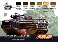 Life Color Paints  LifeColor 22ml Acrylic NATO MERDC Camouflage Acrylic Set LFCCS2