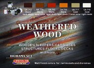 Life Color Paints  LifeColor 22ml Acrylic Weathered Wood Diorama Acrylic Set LFCCS20