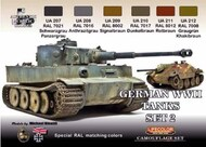 Life Color Paints  LifeColor 22ml Acrylic German WWII Tanks #2 Camouflage Acrylic Set LFCCS3