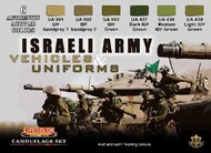 Life Color Paints  LifeColor 22ml Acrylic Israeli Army Vehicles & Uniforms Camouflage Acrylic Set LFCCS32