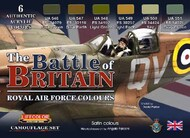 Life Color Paints  LifeColor 22ml Acrylic The Battle of Britain Royal Air Force Colors Camouflage Acrylic Set LFCCS35