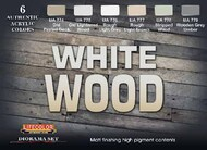Life Color Paints  LifeColor 22ml Acrylic White Wood Diorama Acrylic Set LFCCS38