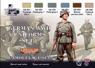 Life Color Paints  LifeColor 22ml Acrylic German WWII Uniforms #1 Camouflage Acrylic Set LFCCS4